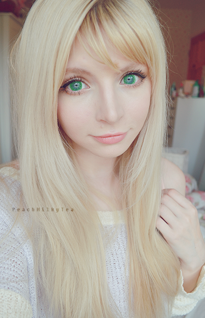 Dolly Eye Starry Eye Green Review Peach Milky Tea
