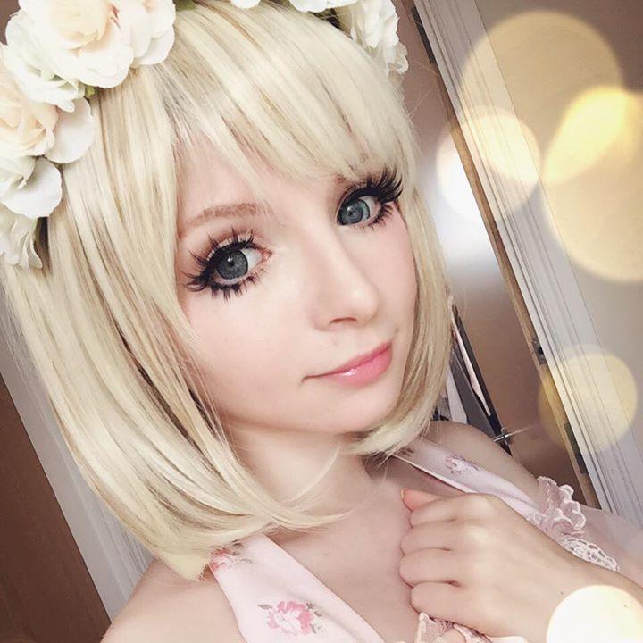 Uniqso Lolita Bobo Wig Review Peach Milky Tea